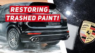 DISASTER! Soft Black Paint Correction & Ceramic Coating - Porsche Cayenne S
