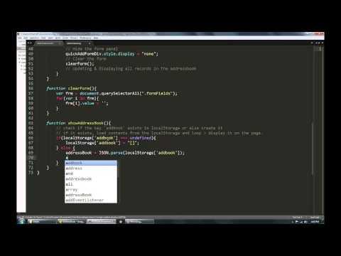 Create An Address Book App Using Javascript