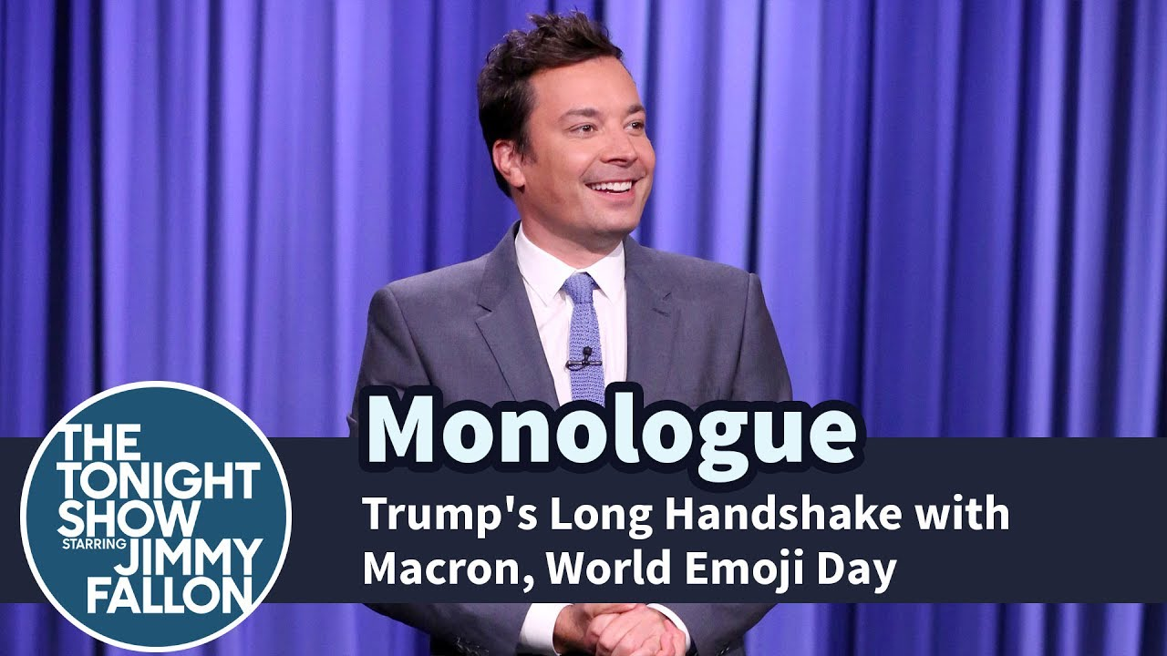 trump-s-long-handshake-with-macron-world-emoji-day-monologue