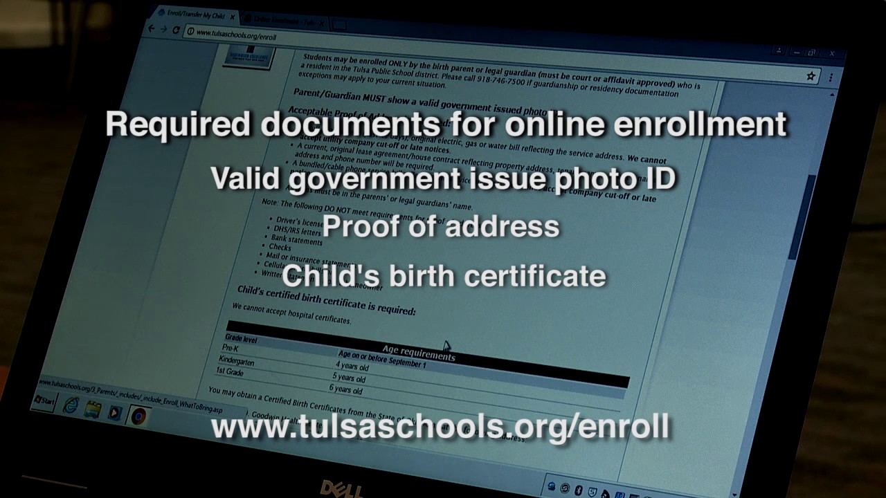 Enroll Your Student For Tulsa Public Schools Online Youtube