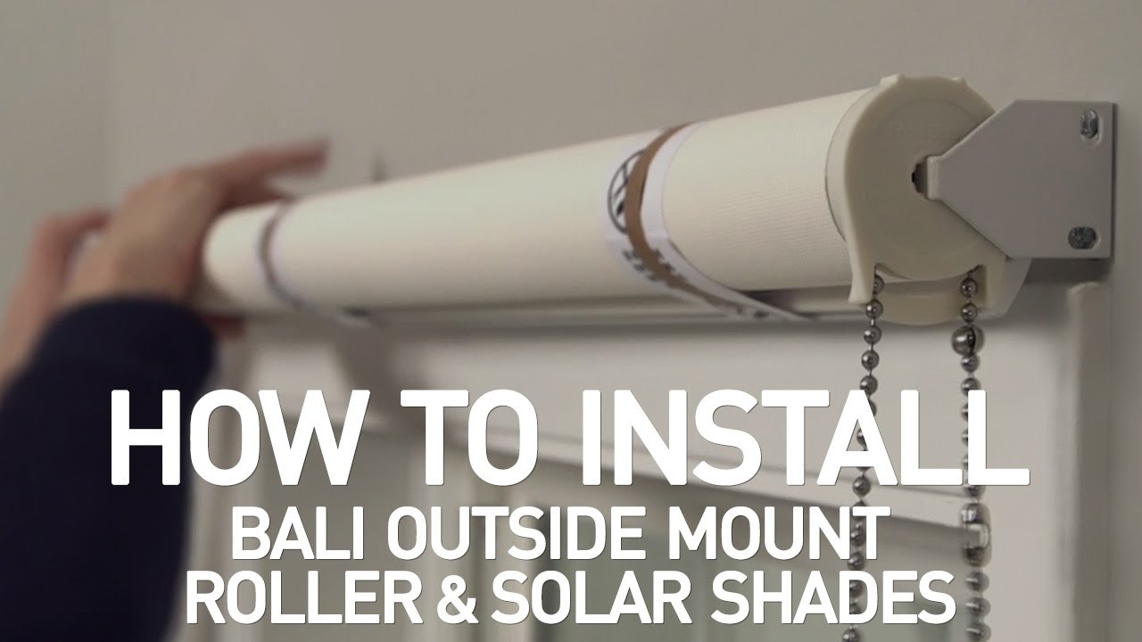 How To Close Blinds >> How to Install Bali Solar and Roller Shades with Continuous-Loop Lift - Outside Mount - YouTube