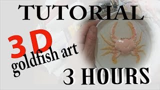 freeeeee TUTORIAL 3HOURS 3d goldfish art