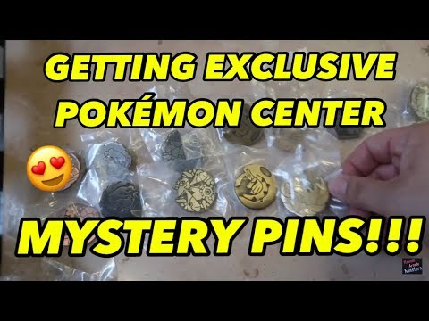 GETTING EXCLUSIVE POKEMON CENTER MYSTERY PINS!!!