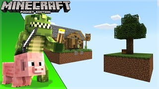 LIVE! Minecraft Pocket Edition - ISLAND IN THE SKY Survival! (Windows 10)