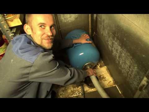 Замена фильтра грубой очистки системы водоснабжения и обслуживание гидроаккумулятора