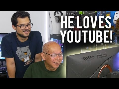 Teaching My Grandpa How to Use a PC!! WELCOME TO THE PCMR! Pt. 2