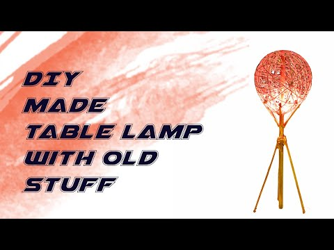 How to make beautiful table lamp at home? DIY Craft, Make beautiful table lamp with old staff?