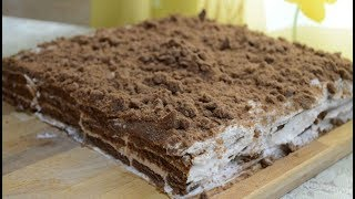 Торт творожный из печенья. 20 минут и готово.