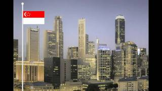 Singapore National Anthem, Majulah Singapura - with Lyrics (four official languages)