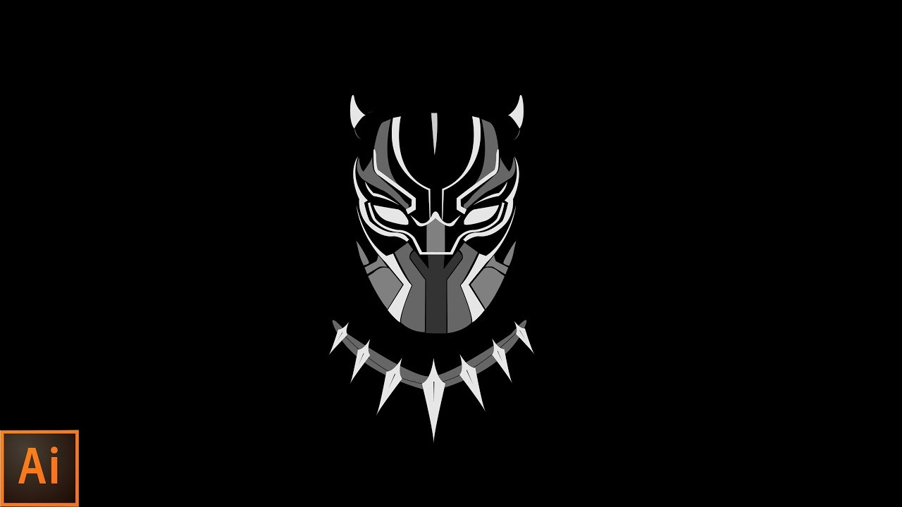 how to make black panther logo   illustrator tutorial   by ...
