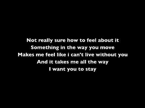 Rihanna ft Mikky Ekko Stay Lyric Video