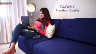 Sofa Cum Bed – Shop Coleman Futon Sofa Cum Bed (Indigo Ink) online- Wooden Street