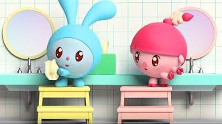 Детские песенки про умывание Малышарики Руки мыть нужно каждый день