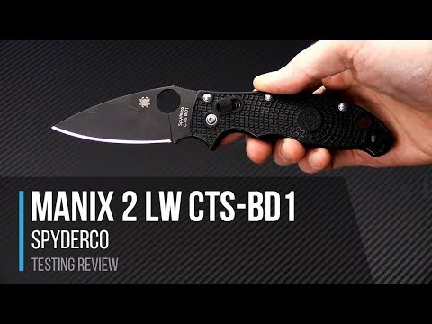 Tyler's Spyderco Manix 2 Lightweight Black in CTS-BD1 Testing Review
