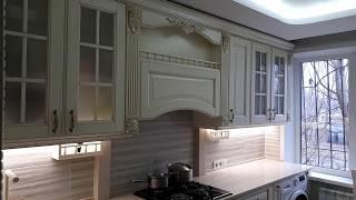 Кухня с Деревянными Фасадами . Обзор кухни Заказчик снимал Видео .