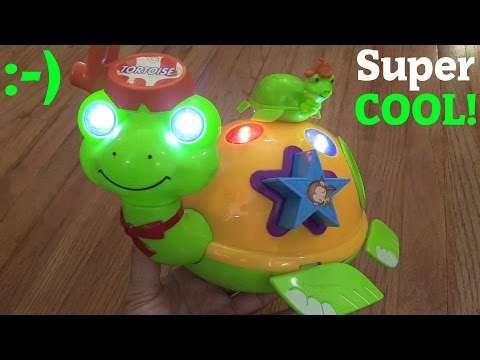 Toys For Babies and Toddlers: Unboxing a Bump & Go Animal Turtle Toy w/ Lights and Music