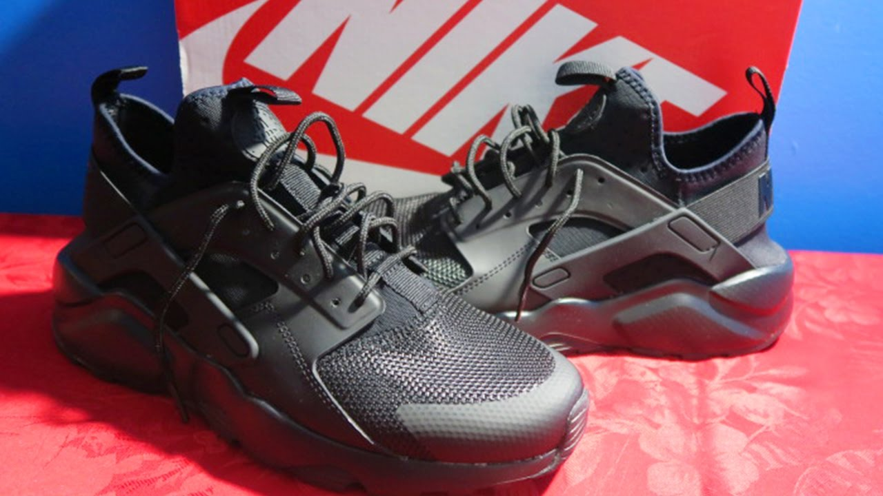 half off 42ce1 cb6e8 NIKE AIR HUARACHE RUN ULTRA BLACK! (UNBOXING   ON FEET) - YouTube