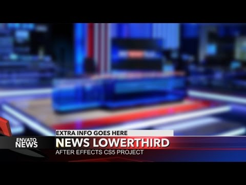 News Lower Third Style After Effects Template