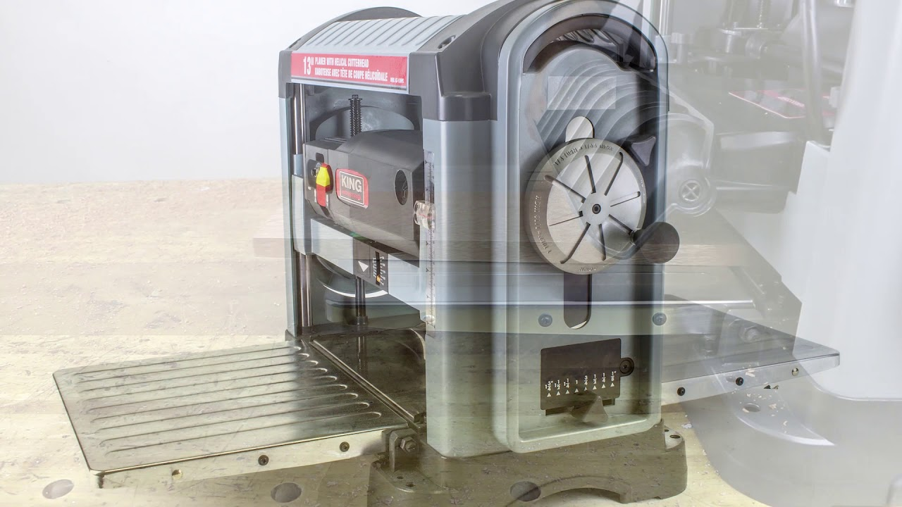 """King Industrial KC-13HPC 13"""" Helical Planer"""