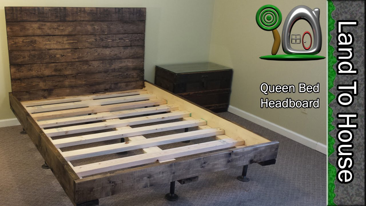 DIY Headboard for a Queen size Bed & DIY Headboard for a Queen size Bed - YouTube