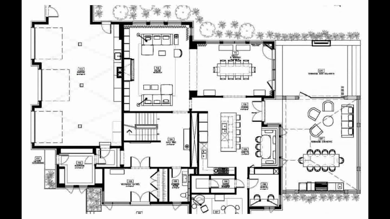 Modern House Floor Plans modern house floor plans - decoration - youtube