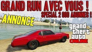 Grand run avec vous sur GTA Online ! | Dimanche 27 Octobre à 14h30