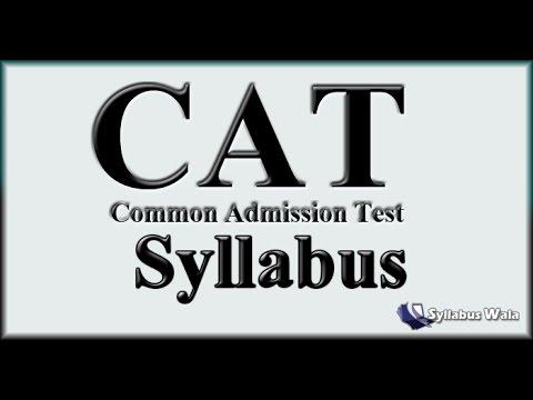 Latest CAT Syllabus 2017 : Download CAT Syllabus in PDF Format