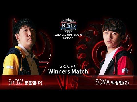 SnOW Vs SOMA PvZ - Ro16 Group C Winners - KSL Season 4 - StarCraft: Remastered