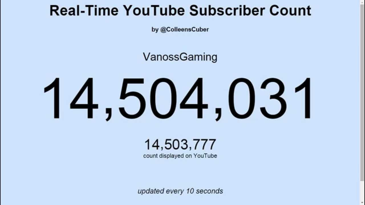 Vanoss Gaming S Real Time Subscribers Count Youtube