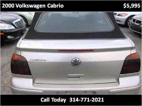 2000 Volkswagen Cabrio Used Cars St. Louis MO
