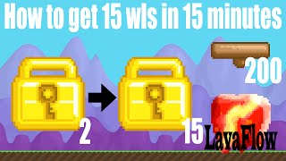 Growtopia - How to get 15 wls in 15 minutes [Easy Fast Wls in Growtopia]