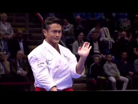 Issei Shimbaba vs Damian Quintero - Male Kata   (Karate1 Premiere League Rotterdam 2017)