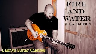 Fire and Water - Free - Paul Kossoff - Blues Rock Guitar Lesson