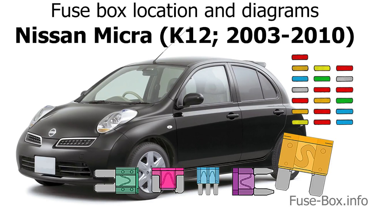 fuse box location and diagrams nissan micra march 2003 2010 fuse box location and diagrams [ 1280 x 720 Pixel ]