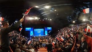 Видео 360°: толпы собрались на встречу с кандидатами в президенты Франции(Три кандидата в президенты Франции - Макрон, Меланшон и Ле Пен встретились со своими сторонниками в Лионе...., 2017-02-10T15:35:50.000Z)