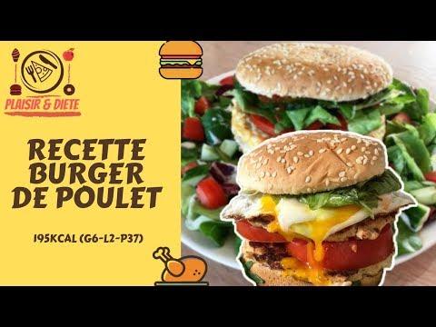 burger-de-poulet-healthy- -recette-&-dÉgustation-#recipe