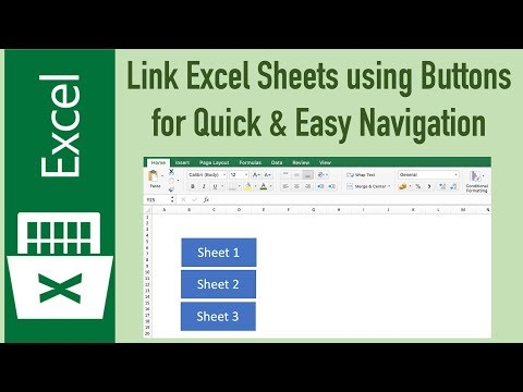 Links in Excel to Navigate between Sheets with buttons (No Macros) thumbnail