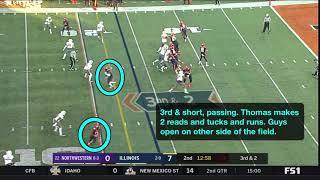Northwestern vs. Illinois (Offense)