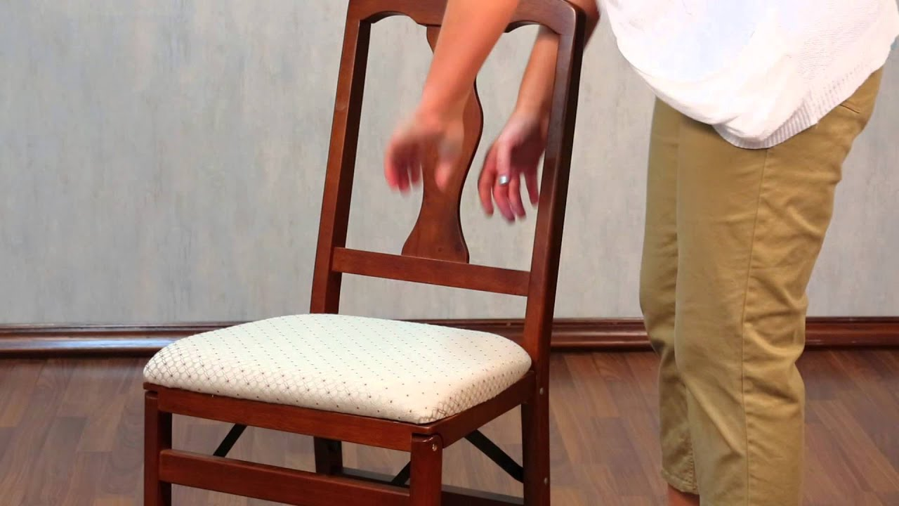 How To Set Up Stakmore Folding Chairs