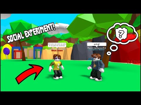 I GAVE THEM PETS IF THEY HELPED A NOOB! - ROBLOX BGS