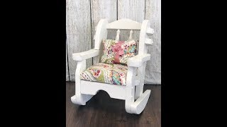 Painting a Rocking Chair - Tutorial with Rethunk Junk Furniture Paint