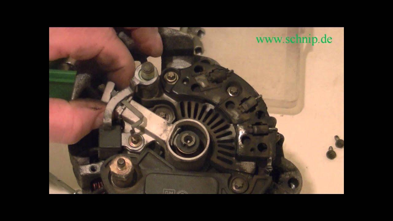 Lichtmaschine Delco-Remy ®, Reparatur,Kohlen,Schleifkontakte ...