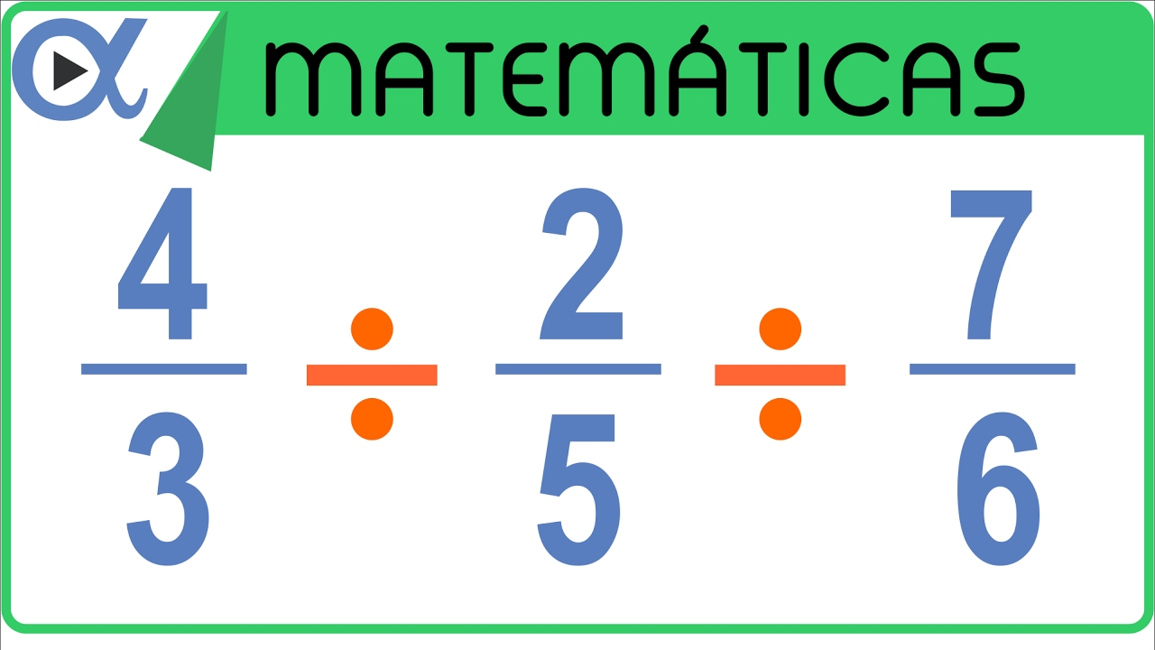 División De 3 Fracciones Aritmética Vitual
