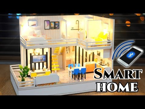 DIY Miniature Dollhouse Kit || Smart Home (With Bluetooth Speaker) - Miniature Land