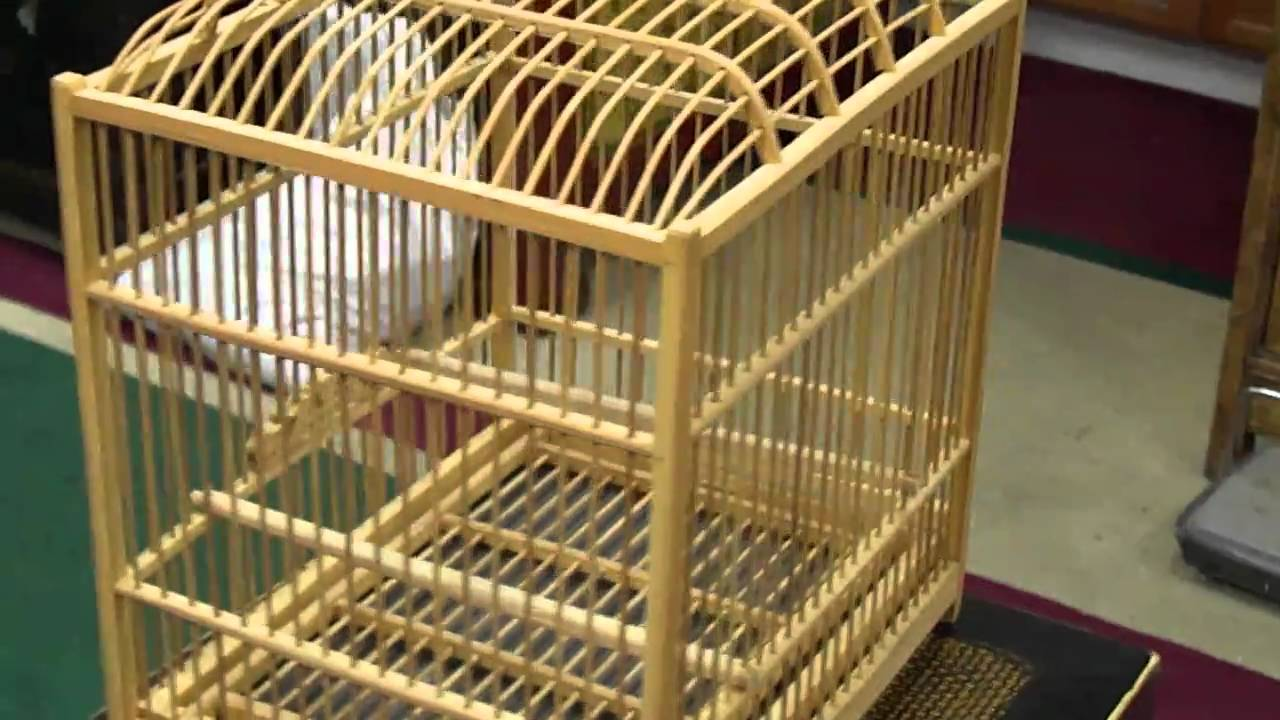 Oriental Chinese Bamboo Hand-made Birdcage s2150m - YouTube