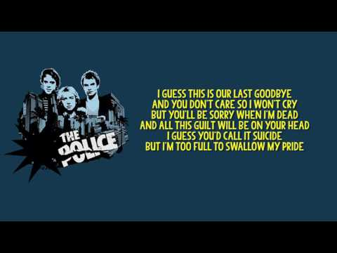 The Police - Can't Stand Losing You + Lyrics (Best Audio)