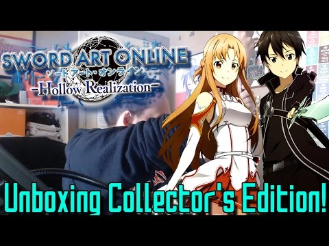 UNBOXING THE SWORD ART ONLINE HOLLOW REALIZATION COLLECTOR'S EDITION W/ AN ELUCIDATOR!