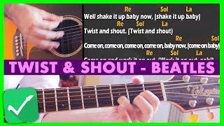 """Come Suonare """"TWIST & SHOUT"""" dei Beatles [Tutorial Chitarra] Accordi e Ritmica"""