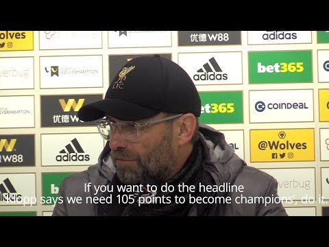 Jurgen Klopp - 'Liverpool Could Need Record 105 Points To Win The League'