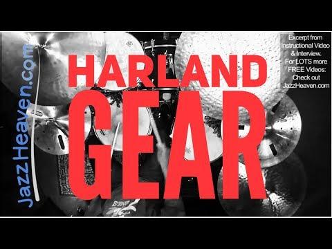 Eric Harland Jazz Drum/Cymbal Set Up - JazzHeaven.com Video Excerpt Zildjian Yamaha Vic Firth